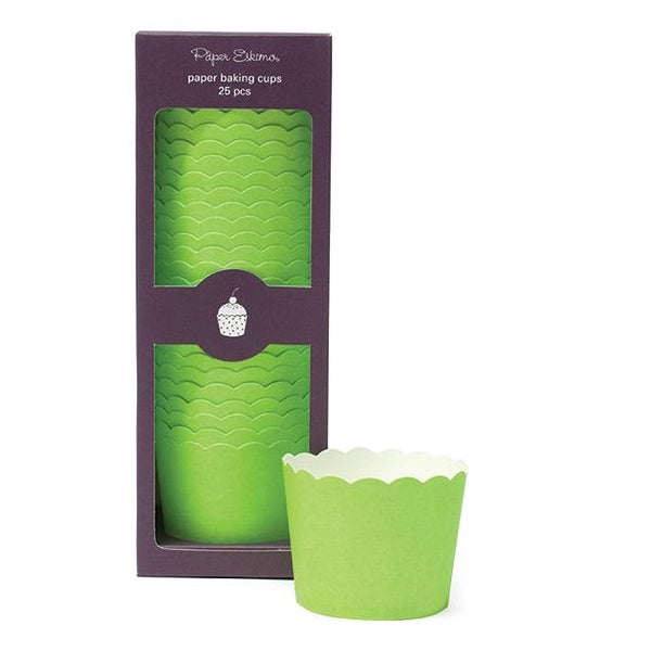 Paper Eskimo Solid Green Cupcake Papers