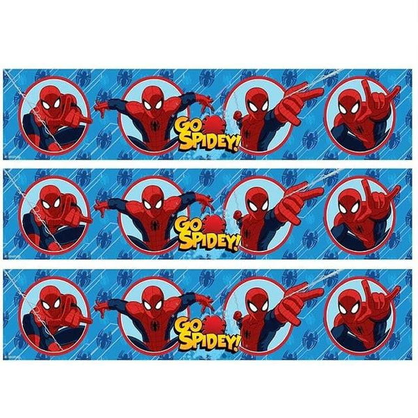 Spiderman Cake Strip Edible Images