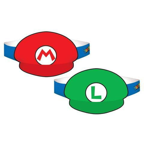 Super Mario Brothers Hats | Mario Brothers Party Theme & Supplies