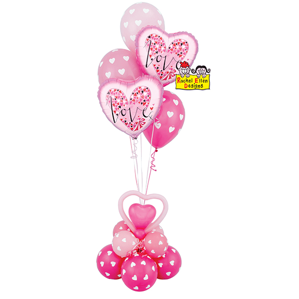 Rachel Ellen | Love Little Hearts Balloon Bouquet | Valentines Balloons