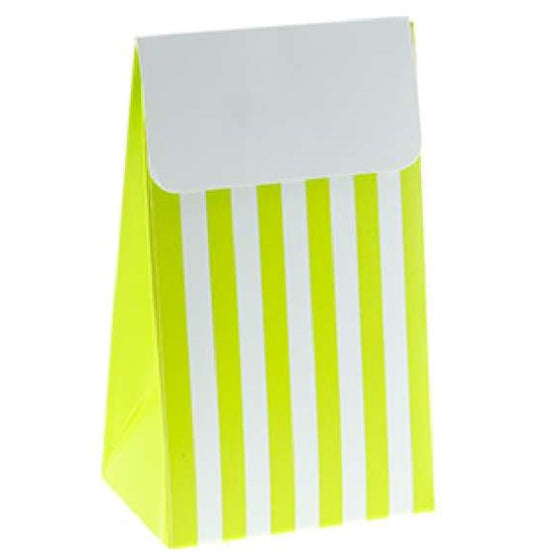 Sambellina Lime Green Candy Stripe Treat Bags | Stripe Party Theme & Supplies