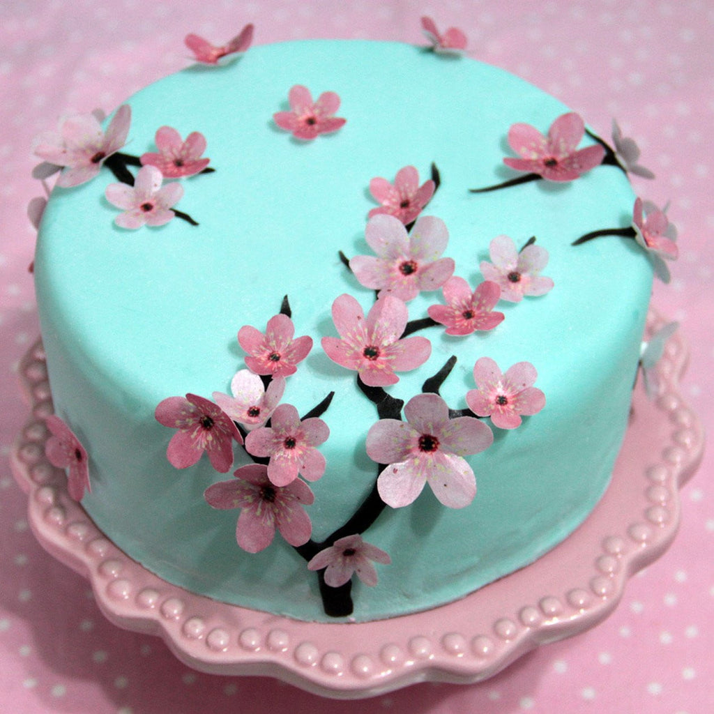 Cherry Blossom Cake Decoration | Garden Party Supplies