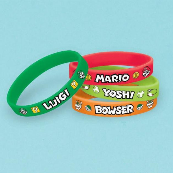 Amscan | Super Mario Brothers Silicone Bracelets - Pack of 6