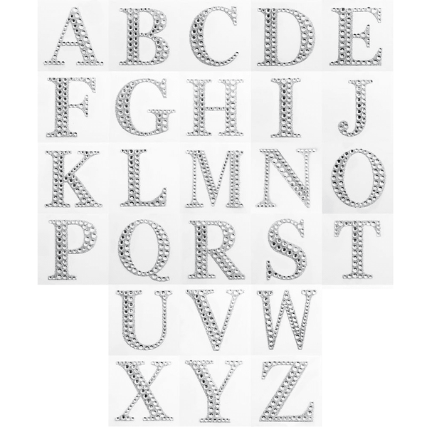 Diamante Letter Sticker | Bling Letter Sticker | Crafts NZ
