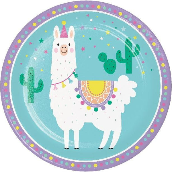 Amscan | Llama Party Plates - Dinner | Llama Party Theme & Supplies