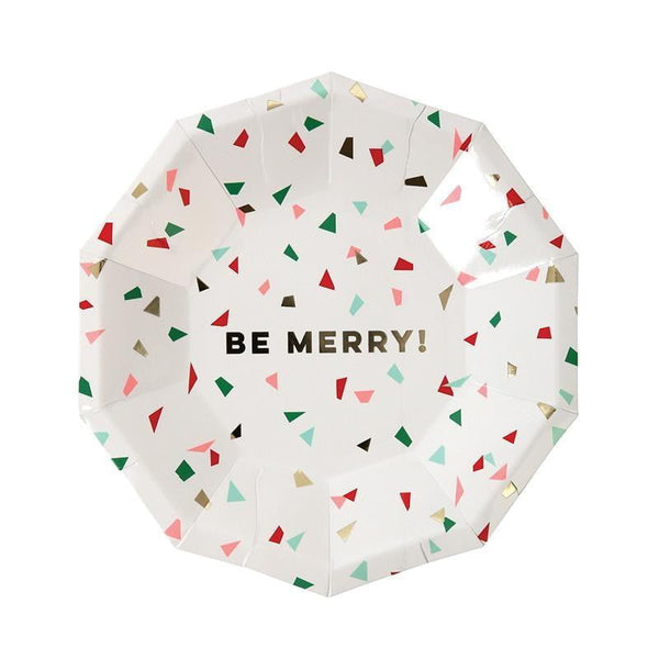 Meri Meri Be Merry Confetti Plates - Lunch