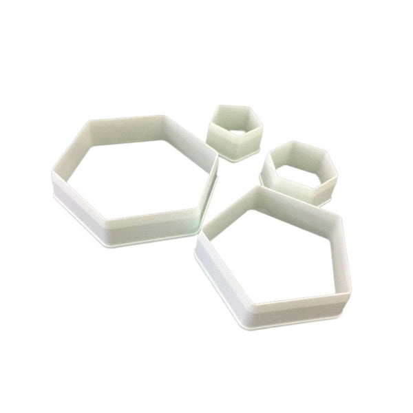 Hexagon & Pentagon Fondant Cutter Set