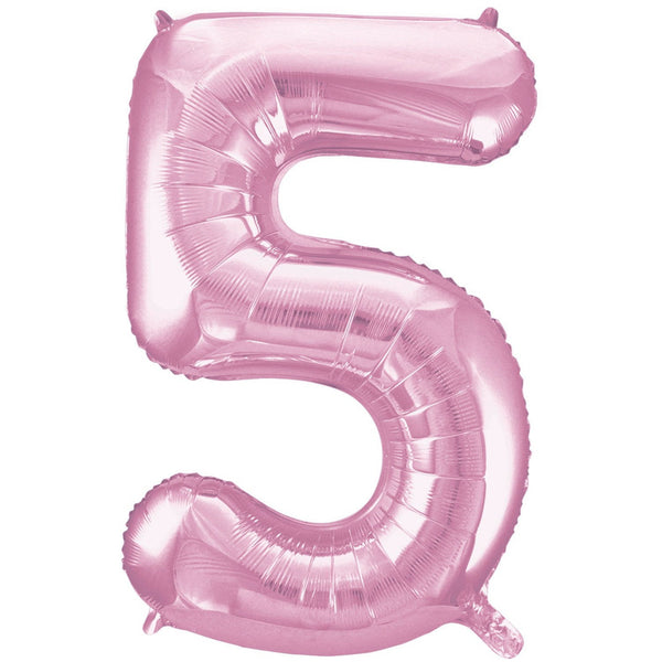 Giant Lovely Pink Number Foil Balloon - 5