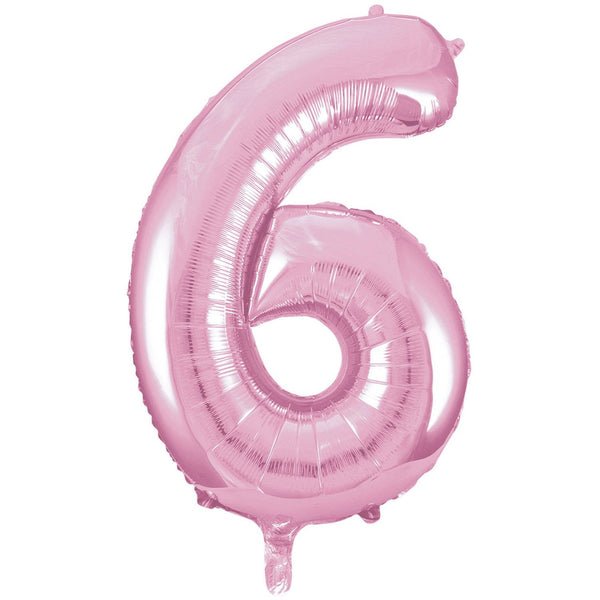 Giant Lovely Pink Number Foil Balloon - 6