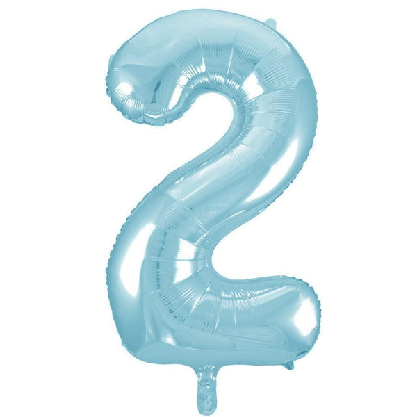 Giant Powder Blue Number Foil Balloon