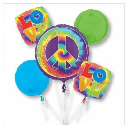 60s Feeling Groovy Balloon Bouquet | Hippy Party Theme & Supplies