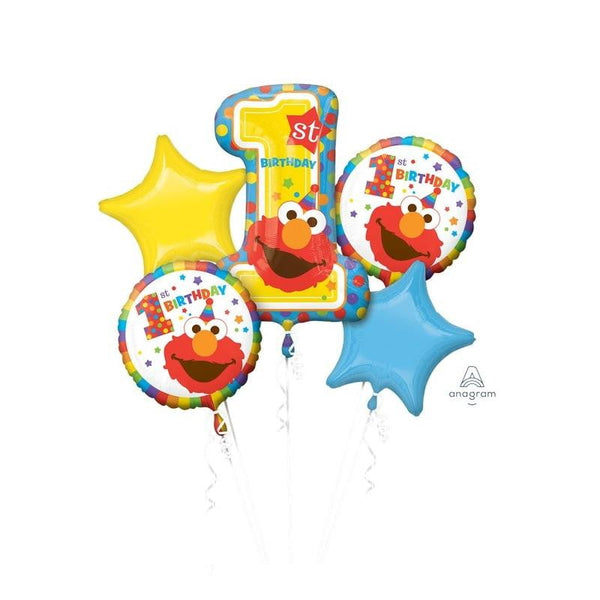Elmo 1st Birthday Balloon Bouquet | Sesame Street Party Theme & Supplies