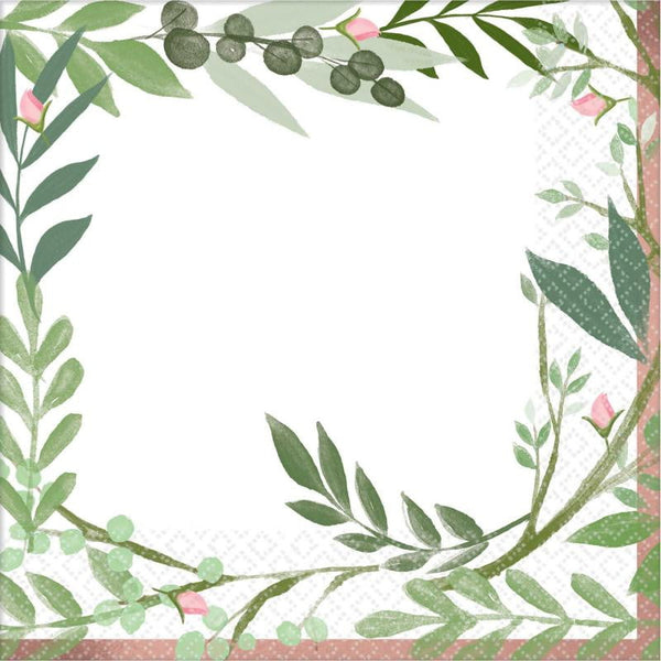 Love & Leaves Napkins | Botanical Napkins | Botanical Party Supplies