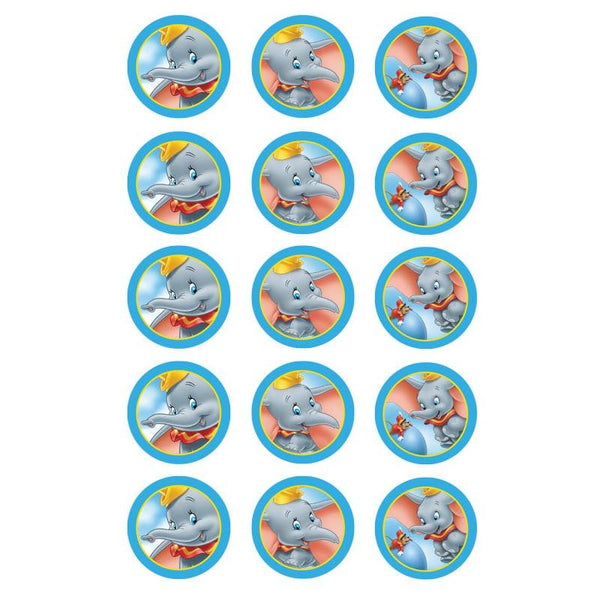 Dumbo Edible Cupcake Toppers | Dumbo Party Supplies