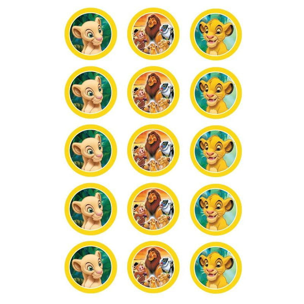 Lion King Edible Cupcake Toppers | Lion King Party
