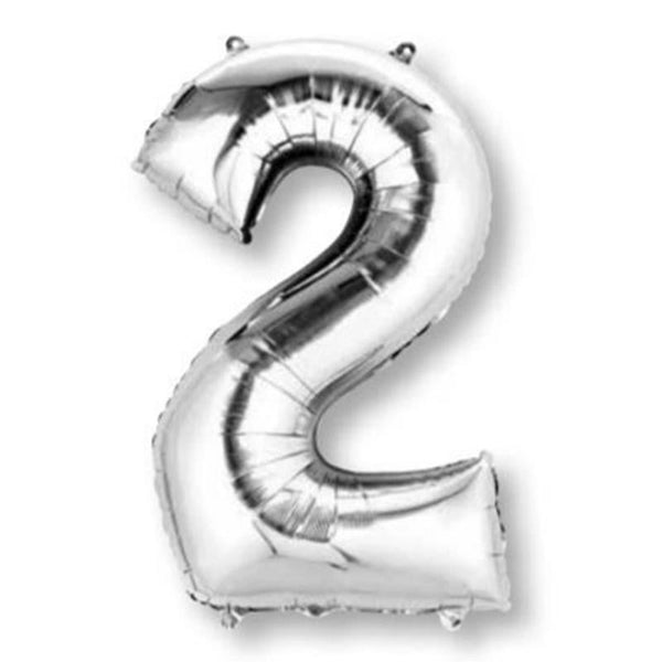Anagram Silver Jumbo Number Foil Balloon - 2