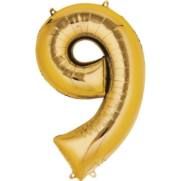 Anagram Gold Jumbo Number Foil Balloon - 9