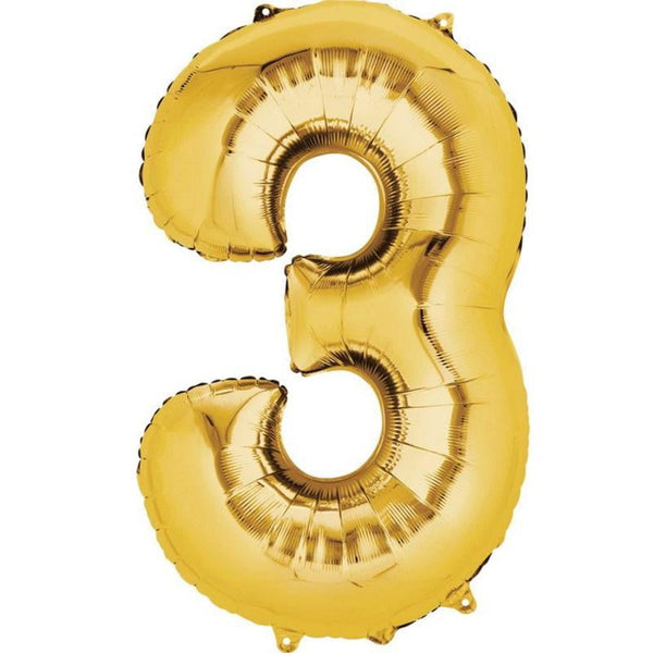 Anagram Gold Jumbo Number Foil Balloon - 3
