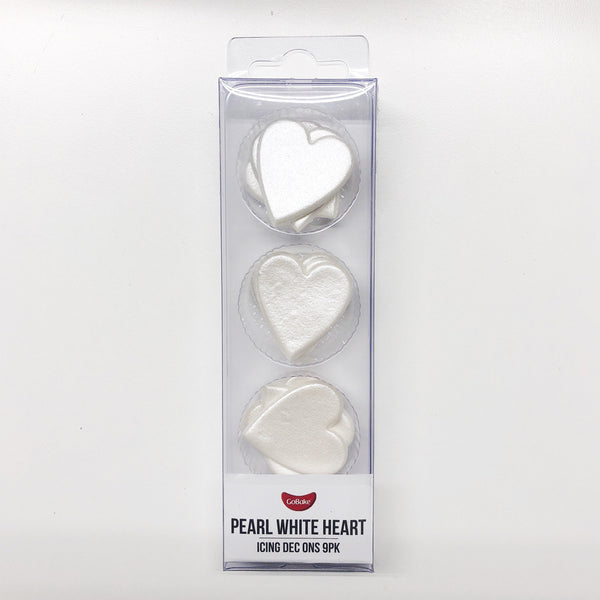 Edible White Hearts | Wedding Cake Decorations