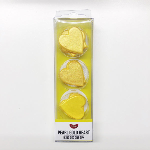 Edible Gold Hearts | Gold Cake Decorations