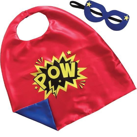 Artwrap | Cape & Mask Set - Red Blue | Super Hero Party