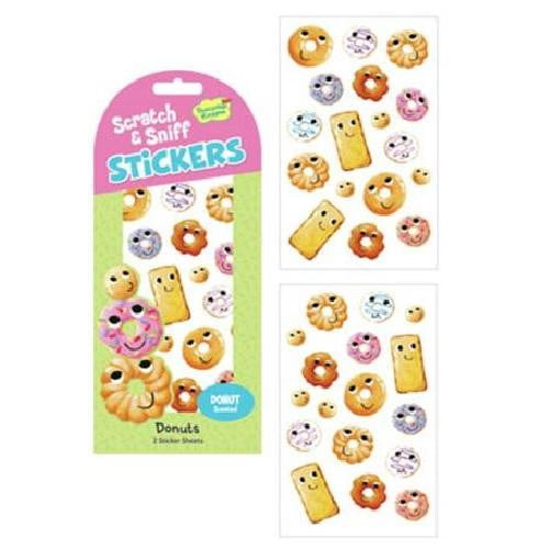 Peaceable Kingdom - Scratch 'n Sniff Donut Stickers | Donut Party Theme & Supplies