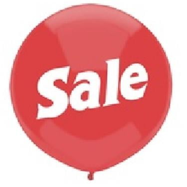 Qualatex | Red Sale Balloon - 40cm
