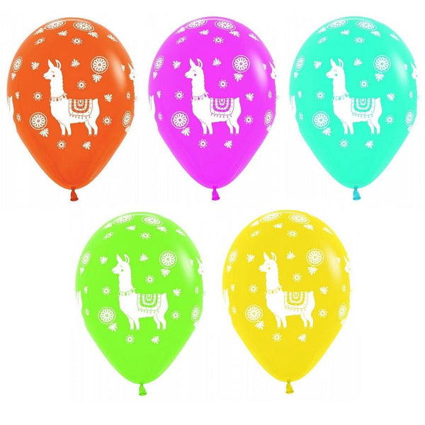 Llama Balloons - Pack of 12 | Fortnite Party Theme & Supplies