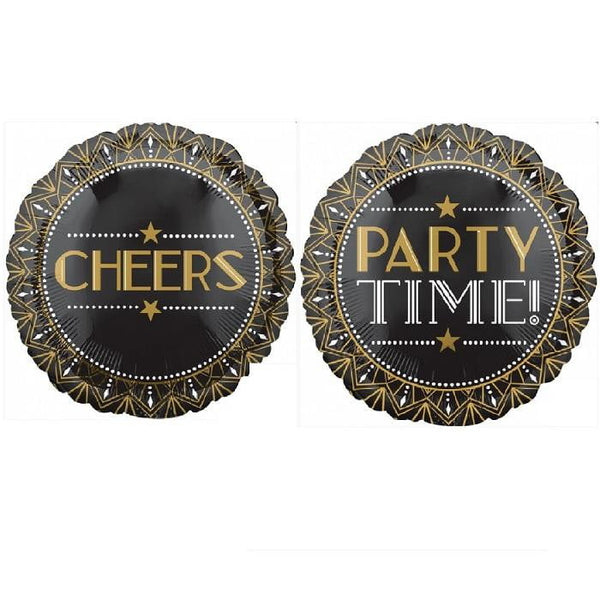 Anagram | Party Time Cheers Foil Balloon | Hollywood Party Theme & Supplies