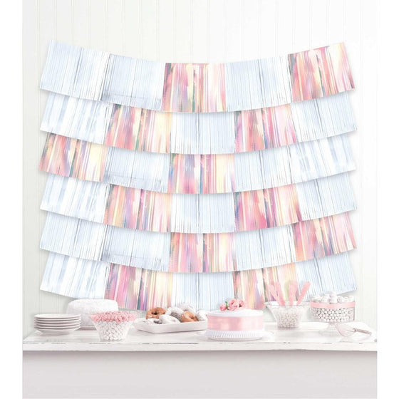 Amscan | Shimmering Party Iridescent Fringe Decoration - White