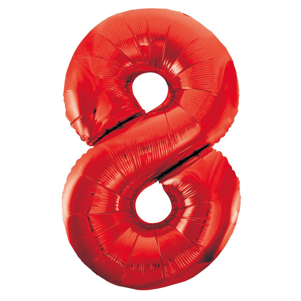 Giant Red Number Foil Balloon - 8