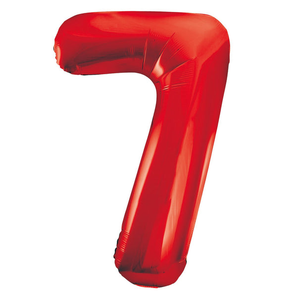 Giant Red Number Foil Balloon - 7