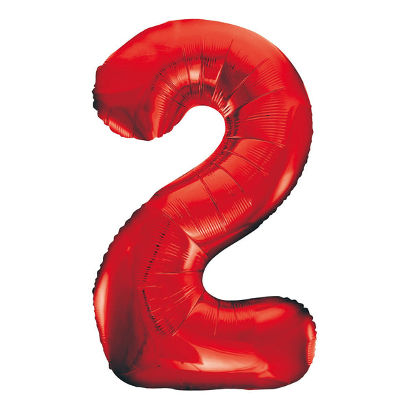 Giant Red Number Foil Balloon - 2