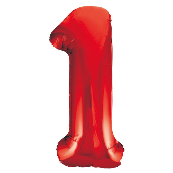 Giant Red Number Foil Balloon - 1