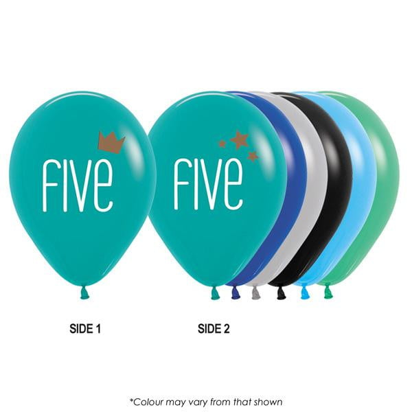Five Boy Balloon