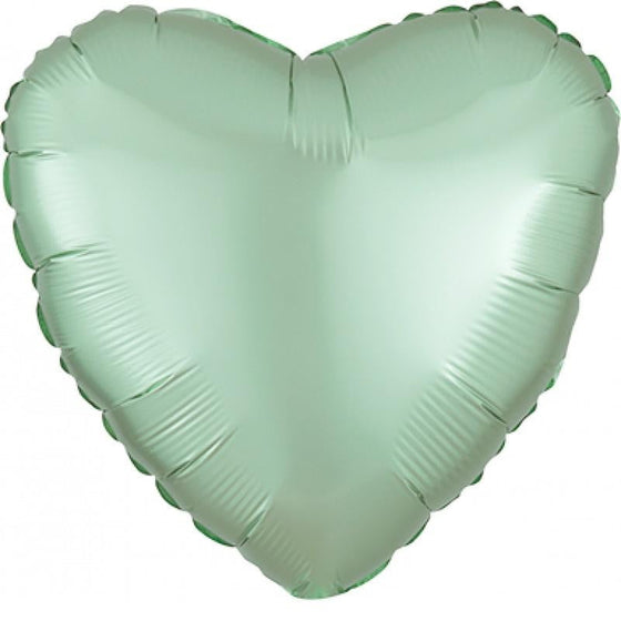 Anagram | Satin Luxe Mint Green Heart Foil Balloon