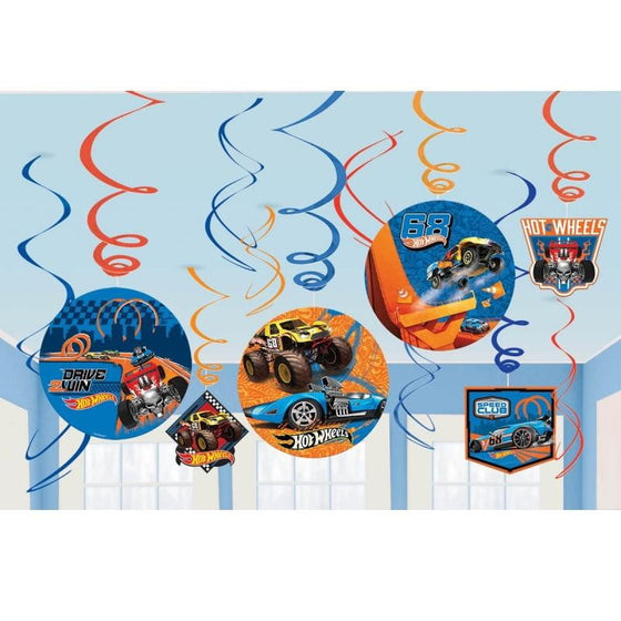 Amscan | Hot Wheels Wild Racer Swirl Decorations