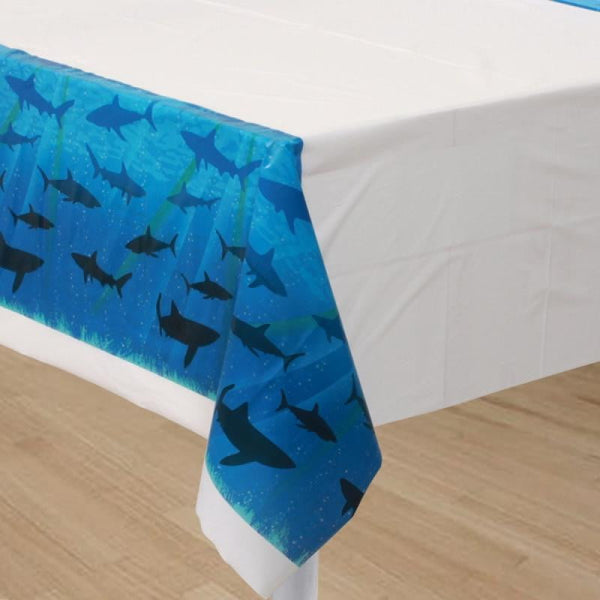 Amscan | Shark Splash Tablecover | Under the Sea Party Theme & Supplies