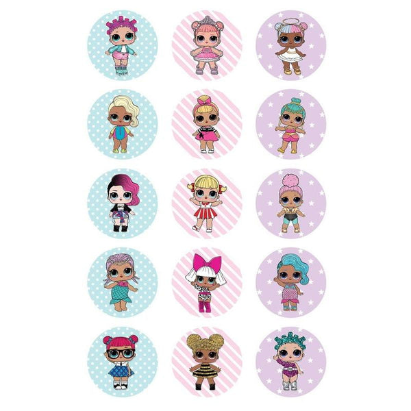 LOL Doll Edible Cupcake Toppers | LOL Doll Party | LOL Surprise Party