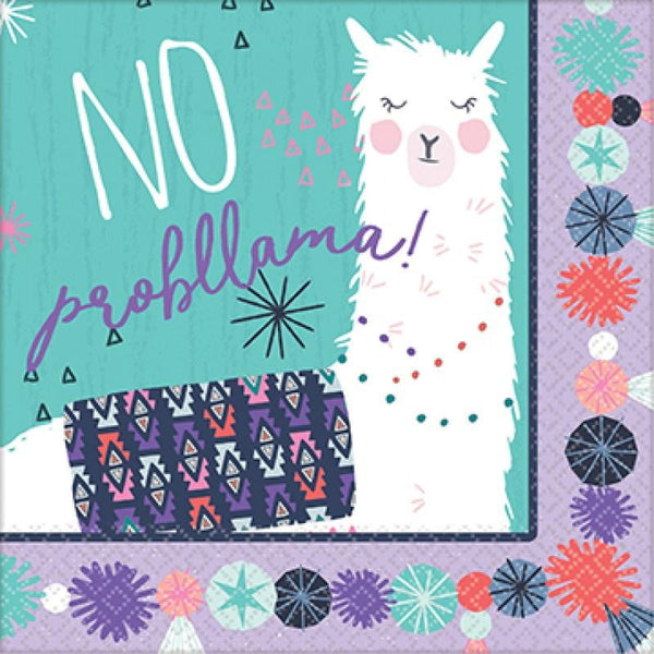 Amscan | Llama Fun Napkins - Lunch | Llama Party Theme & Supplies