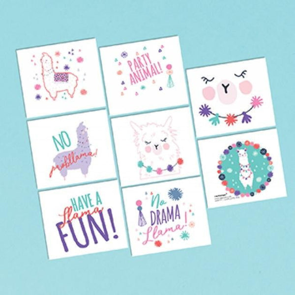 Amscan | Llama Fun Tattoos | Llama Party Theme & Supplies