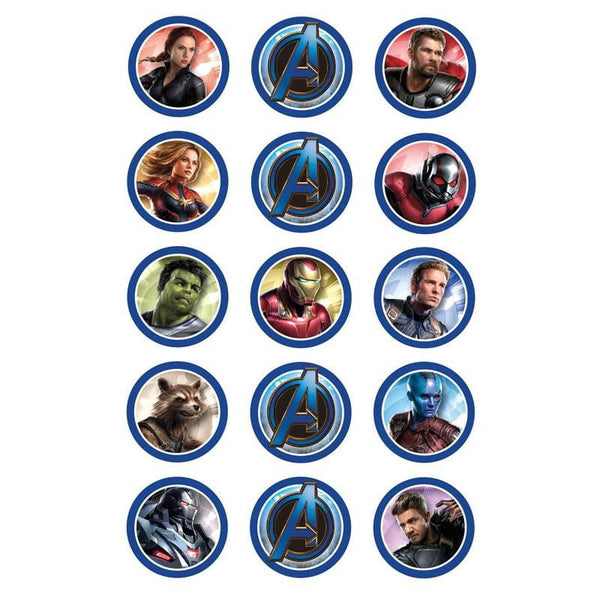 Avengers Endgame Edible Cupcake Images | Avengers Party Supplies
