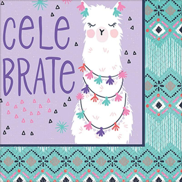 Amscan | Llama Fun Napkins - Beverage | Llama Party Theme & Supplies