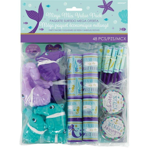 Amscan | Mermaid Wishes Mega Mix Party Favour Pack - 48 Pieces