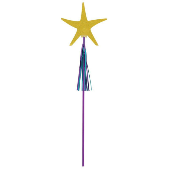 Amscan | Mermaid Wishes Starfish Wand | Mermaid Party Theme & Supplies
