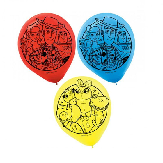 Amscan | Toy Story Balloons - Pack of 6 | Toy Story Party Theme & Supplies