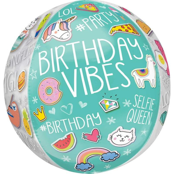 Amscan | Selfie Celebration Orbz Balloon | Tween Party Theme & Supplies