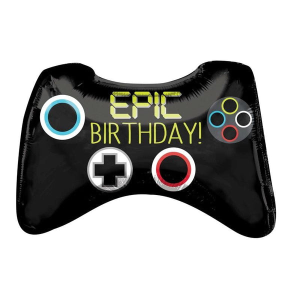 Anagram | Epic Party Game Controller SuperShape Foil Ballon | Gaming Party Theme & Supplies