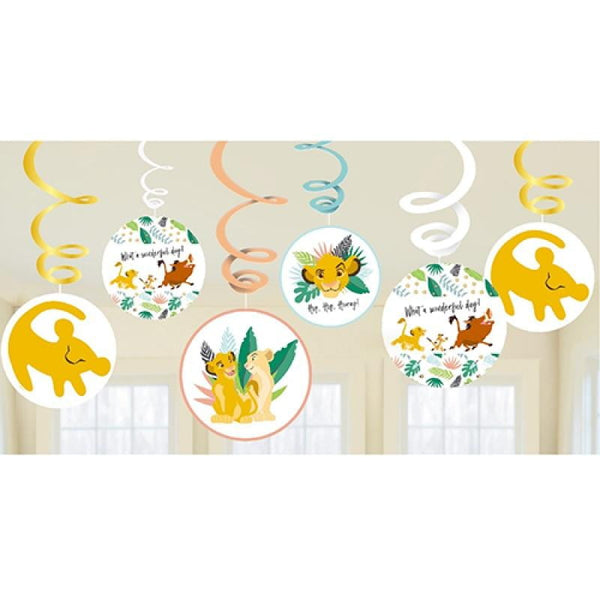 Lion King Hanging Swirl Decorations