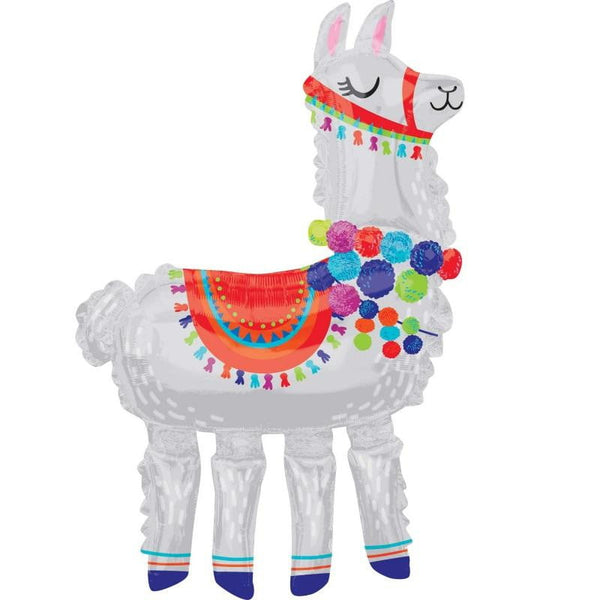Anagram | Llama Air Walker Foil Balloon | Llama Party Theme & Supplies